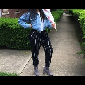 Striped Black Pants